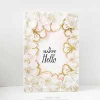 Cherry blossoms are in full bloom in my card
