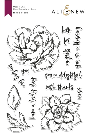 6x8 Inked Flora